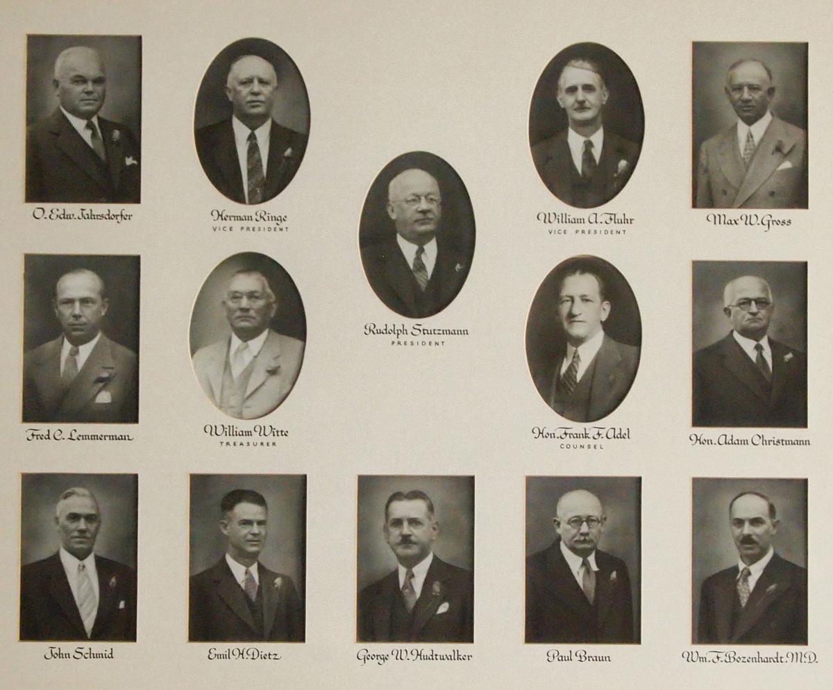 Photos of Ridgewood Savings Bank's founders