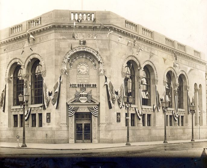 Historic photo of Ridgewood Savings Bank's main office