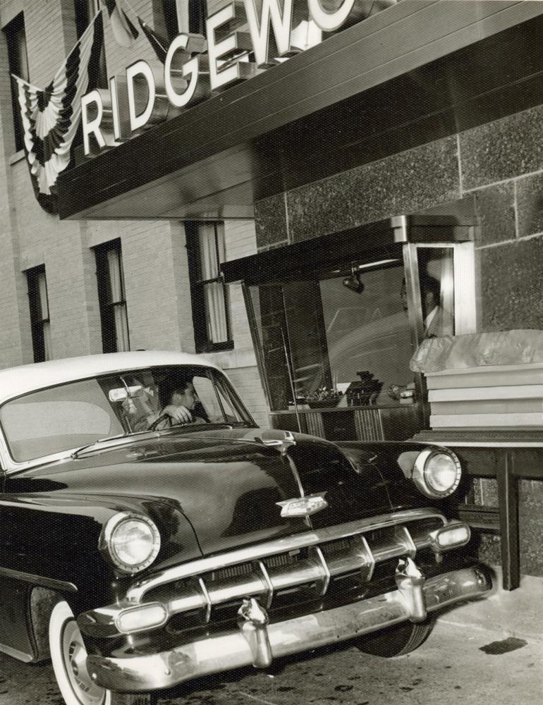 Ridgewood's first drive-thru window