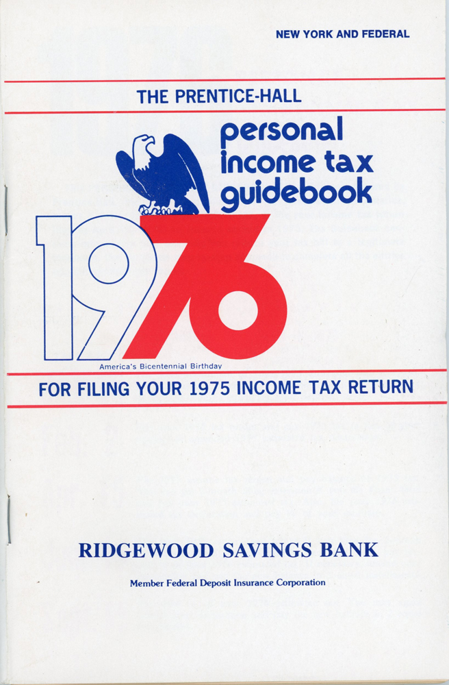 Cover of a personal income tax guidebook from 1976