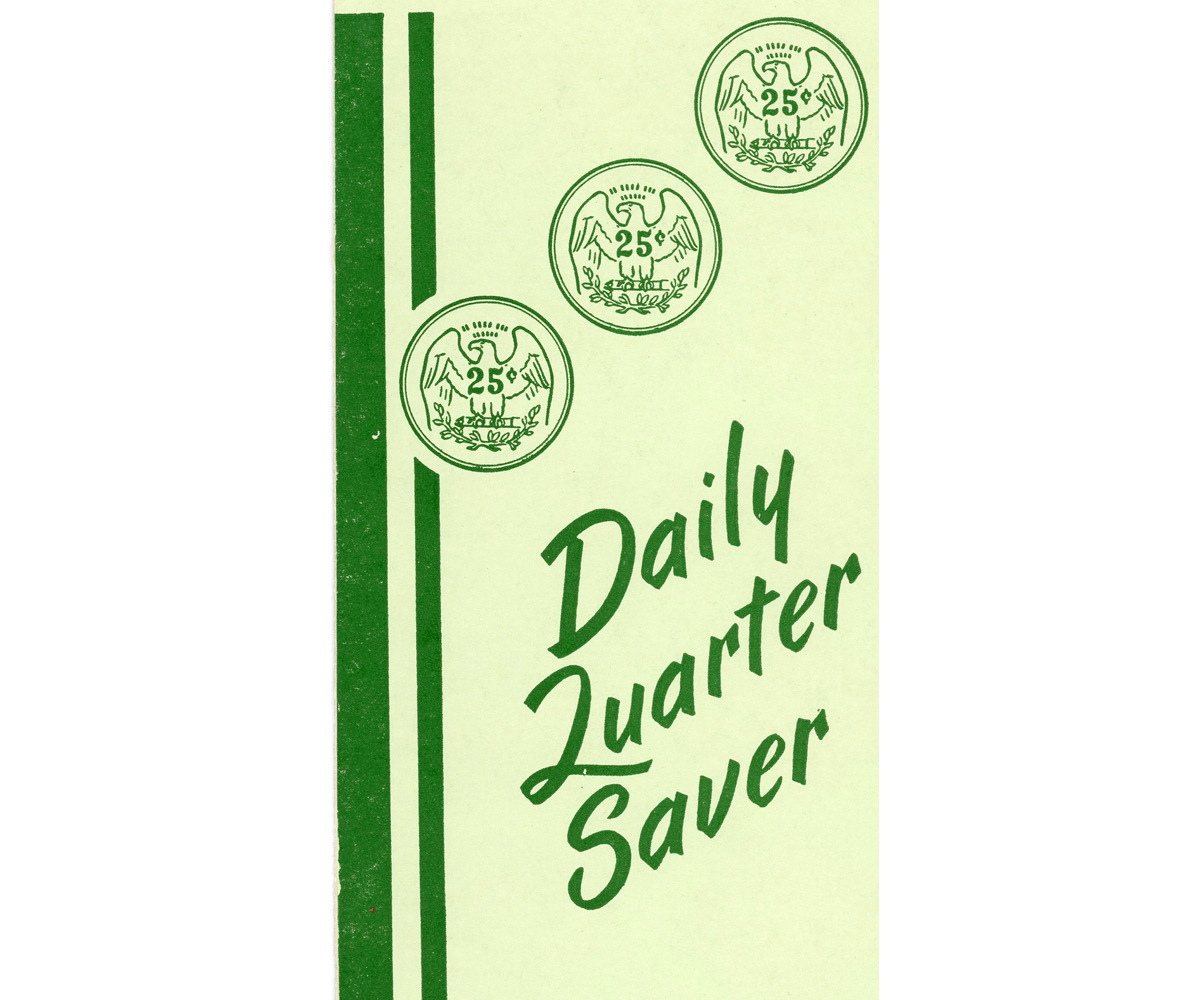 The front cover of Ridgewood's daily quarter saver