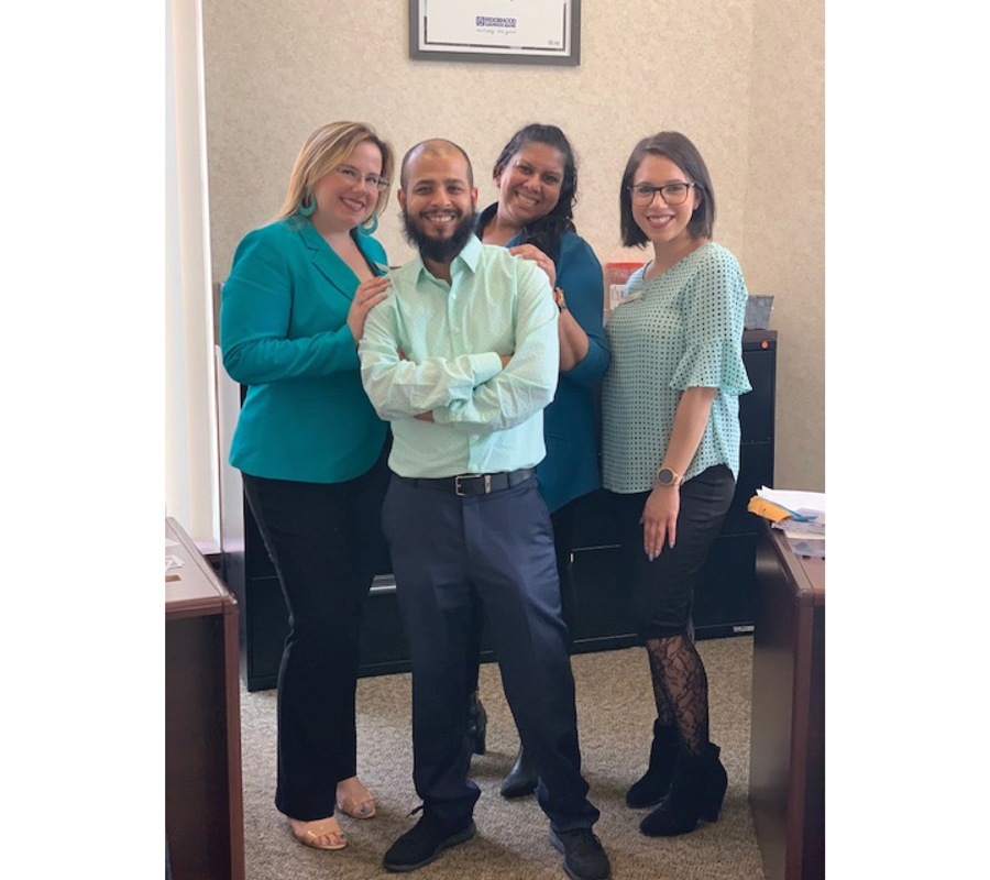 Employees on Turquoise Day.